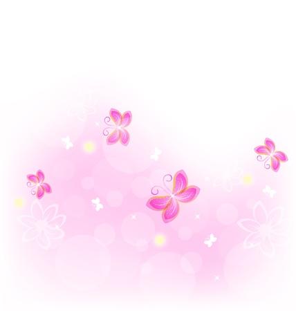 Illustratie abstracte achtergrond met vlinder voor ontwerp, viering, kaart - vector Stock Illustratie