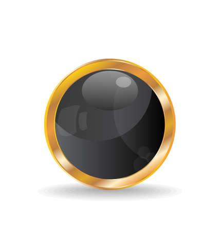 glass ball: Illustration golden luxury ball isolated on white background