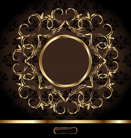 Illustration royal background with golden ornate frame - vector Stock Vector - 13864570
