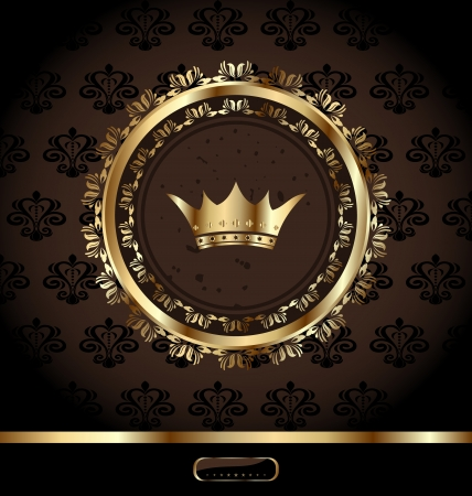 Illustration vintage background with decorative frame and crown - vector Stock Vector - 13864575