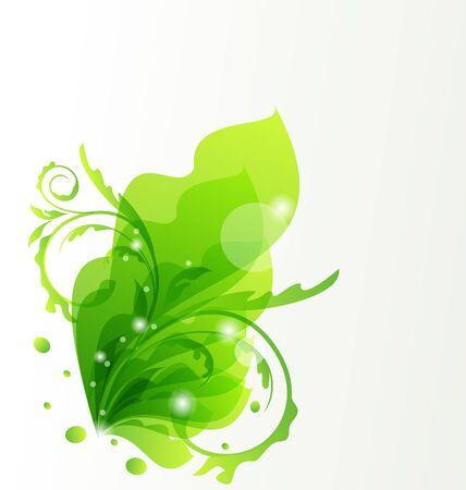 Illustration nature transparent floral background, design elements Stock Illustration - 14492745
