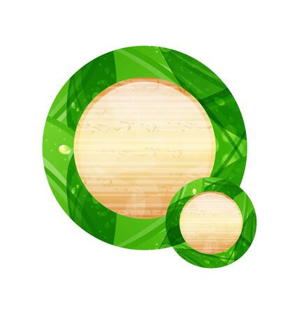 Illustration eco friendly wooden icon for web design  Stock Illustration - 14492827