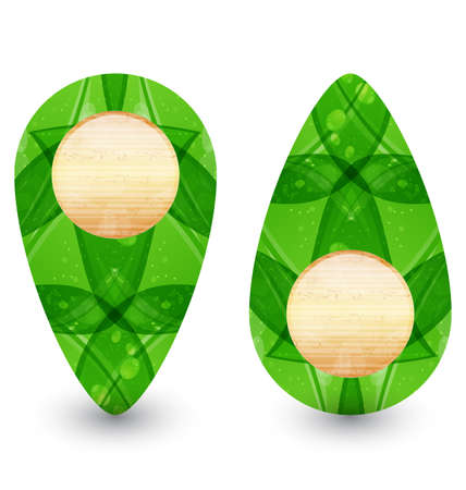 Illustration eco friendly wooden icon for web design  Stock Illustration - 14492849