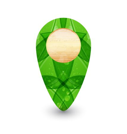Illustration eco friendly wooden icon for web design Stock Illustration - 14492712