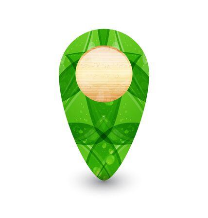 Illustration eco friendly wooden icon for web design Stock Illustration - 14492712