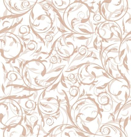 Illustratie uitstekende naadloze florale achtergrond, patroon voor continu repliceren