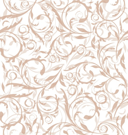 Illustration excellent seamless floral background, pattern for continuous replicate