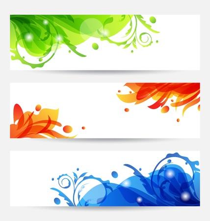 Illustration set brochure templates with flower frames Stock Illustration - 14492839