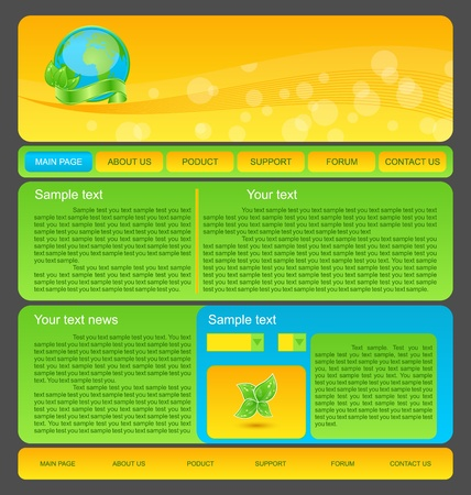 Illustration eco nature environmental web template illustration