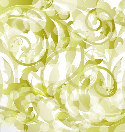 Illustration floral ornamental background, design elements Stock Illustration - 15125346