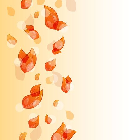 Illustration flying autumn orange leaves background Stock Illustration - 15125362