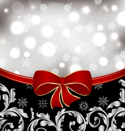 Illustration Christmas floral background, ornamental design elements Stock Photo