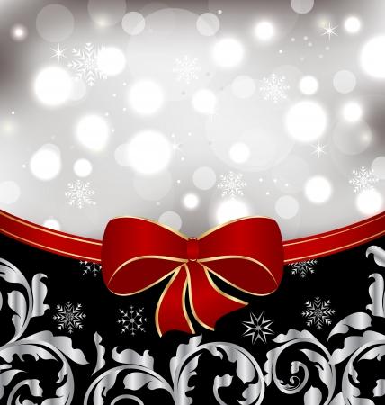 Illustration Christmas floral background, ornamental design elements Standard-Bild