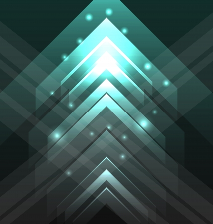 Illustration abstract tecno background with set transparent arrows