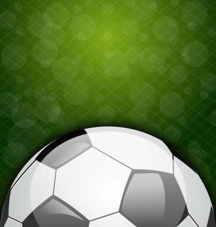 Illustratie voetbal kaart