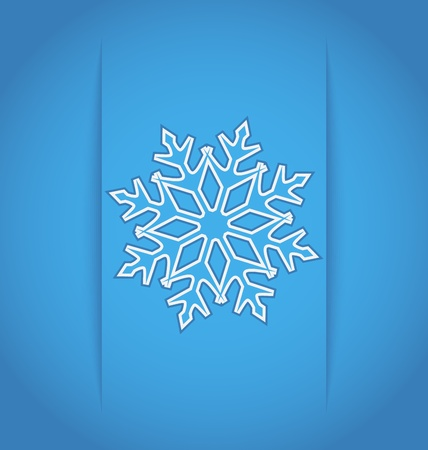 Illustration template frame design with christmas snowflake Vector