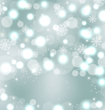 Illustration Christmas cute wallpaper with sparkle, snowflakes, stars
