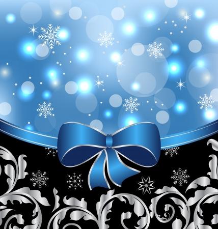 Illustration Christmas floral packing, ornamental design elements
