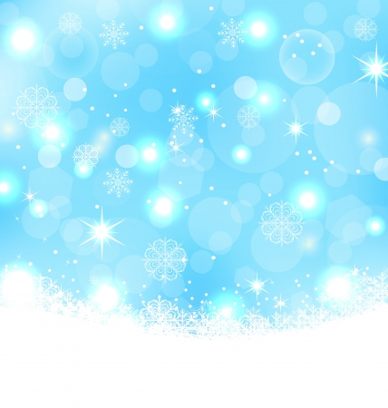Illustration Christmas abstract background with snowflakes Vector
