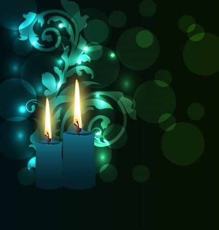 deepawali: Ilustraci�n de la tarjeta de felicitaci�n brillante con velas para el festival de Diwali Foto de archivo