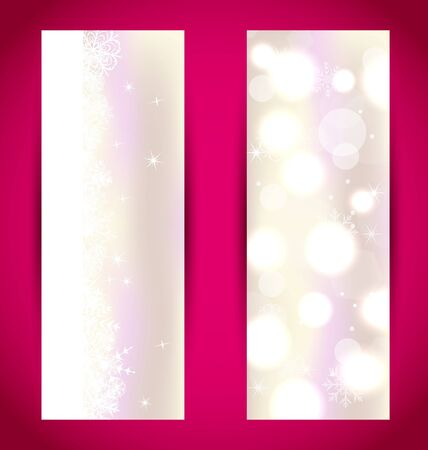 Illustration set Christmas banners with snowflakes Stock Illustration - 15845698