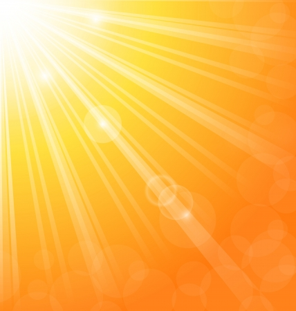 blinding: Illustration abstract background with sun light rays - vector