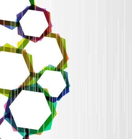 hape: Illustration abstract set colorful hexagons background   Stock Photo