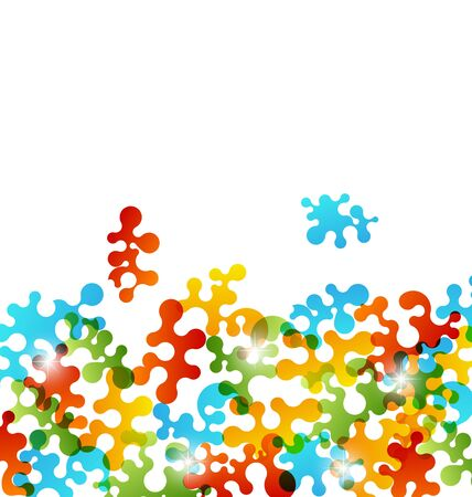 Illustration set colorful figures stylized puzzle   Stock Illustration - 16945680