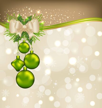 Illustration holiday background with Christmas balls   illustration