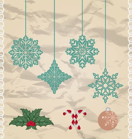 Illustration set Christmas and New Year elements   illustration