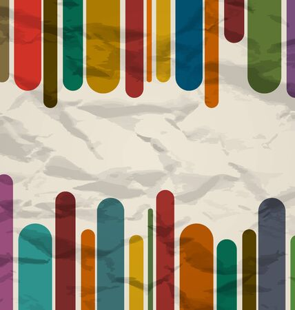 Illustration old striped template, colorful vintage background   illustration