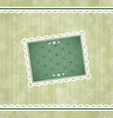 Illustration Christmas vintage frame, ornamental design elements   illustration