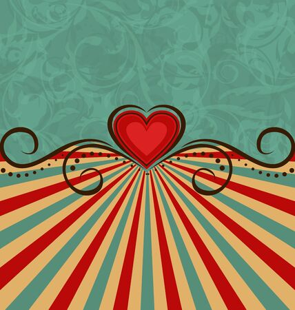 Illustration Valentine's Day vintage background   Stock Illustration - 17433401