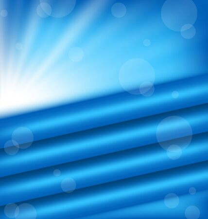 Illustration abstract background with blue rays - vector Stock Vector - 17968339