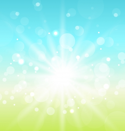 Illustration Easter nature background with lens flare - vector Stock Vector - 17968310