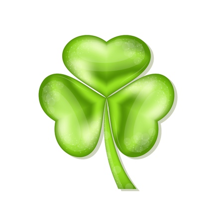 Illustration shamrock isolated for Saint Patrick day - vector  Vector