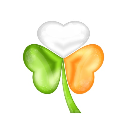 Illustration shamrock in Irish flag color for saint patrick day - vector Stock Vector - 17968288
