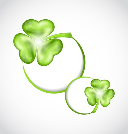 Illustration shamrock bubbles for Saint Patrick day - vector  Vector