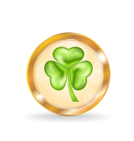 Illustration trefoil icon isolated for Saint Patrick day - vector  Vector