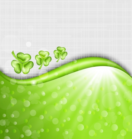 trefoil: Illustration St. Patrick Day background with trefoil - vector Illustration