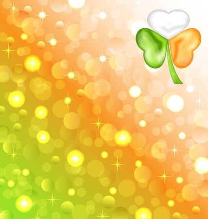 Illustration shamrock in Irish flag color for Saint Patrick day - vector  Stock Vector - 17968309