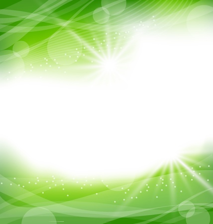 Illustration eco friendly background - vector