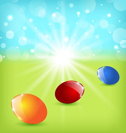 Illustration Easter background with colorful eggs - vector Stock Vector - 17968331