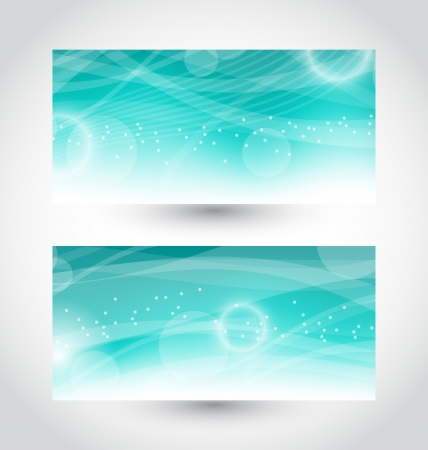 Illustration set abstract water banners, design template - vector  Stock Vector - 17968308