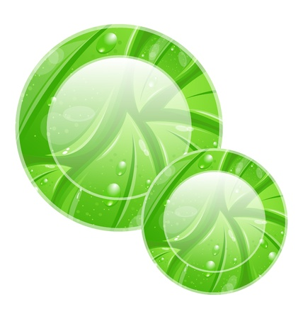 Illustration eco friendly icon for web design, leaves texture Stock Illustration - 18434052