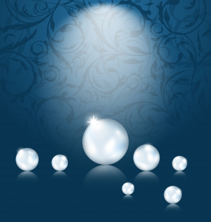 Illustration luxury dark background with pearl reflect  illustration