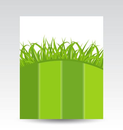 Illustration ecology card with green grass Stock Illustration - 18433839