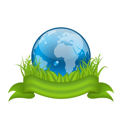 Illustration Go green life, environment symbol isolated on white background Stock Illustration - 19676302