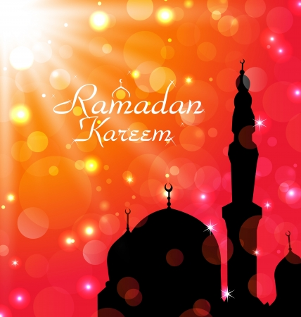Illustration celebration card for Ramadan Kareem - vector illustration