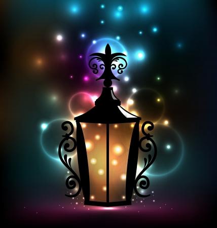 Illustration forging lantern for Ramadan Kareem